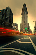 Nyc Taxi Framed Prints - Rushing into another day Framed Print by John Farnan