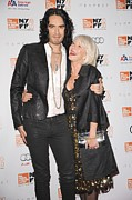 Brand Prints - Russell Brand, Helen Mirren At Arrivals Print by Everett