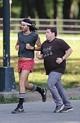 Jonah Metal Prints - Russell Brand, Jonah Hill On Location Metal Print by Everett