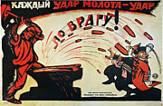 1920 Framed Prints - Russia: Anti-capitalist Poster, 1920 Framed Print by Granger