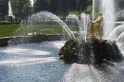 Fountain Scene Prints - Russia, Samson Fountain At Peterhof Print by Keenpress