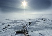 S Pole Posters - Russian Antarctic Research Station Poster by Ria Novosti