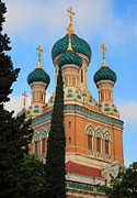 Russian Icon Photos - Russian Church by Inge Johnsson