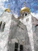Churches Prints - russian church of the Protection of the Holy Virgin Australia Print by Evguenia Men