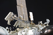 Outer Space Photos - Russian Cosmonauts Working by Stocktrek Images