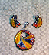 Hand Painted Pendant Jewelry - Russian Dance by Asya Ostrovsky