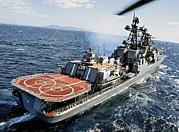 Pirate Ship Prints - Russian Destroyer Admiral Panteleyev Print by Ria Novosti