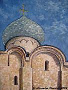 Orthodox Painting Originals - Russian Domes III by Alexanda Davidoff