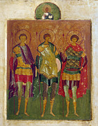Russian Icon Posters - Russian Icon: Saints Poster by Granger