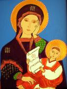 Virgin Mary Painting Originals - Russian Icon by Stephanie Moore