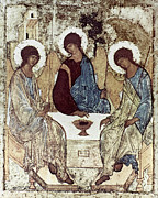 Holy Trinity Icon Posters - Russian Icons: The Trinity Poster by Granger