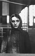 Russian Girl Posters - Russian Jewish Immigrant, Ellis Island Poster by Photo Researchers