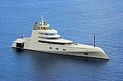 Mega Prints - Russian Mega Yacht  A - St Lucia Print by Chester Williams