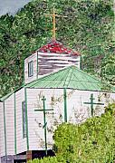Orthodox Church Paintings - Russian Orthodox In Hoonah by Larry Wright