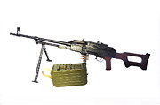 Gun Barrel Framed Prints - Russian Pkm General-purpose Machine Gun Framed Print by Andrew Chittock