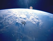 Modular Photo Prints - Russian Space Station Mir. Mir Print by Everett