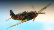 Warbirds Digital Art - Russian Yak No.6  2011 Chino Air Show by Gus McCrea