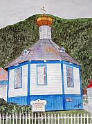 Russian Orthodox Painting Originals - Russians In Alaska by Larry Wright