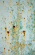 Drips Prints - Rust 2 Print by Glennis Siverson