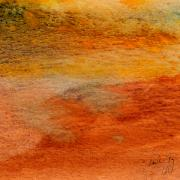 Patterns Mixed Media Prints - Rust and Sand 2 Print by Paul Gaj