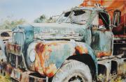 Old Relics Painting Prints - Rust Assured Print by P Anthony Visco