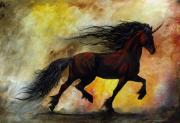 Rust Metal Prints - Rust Unicorn Metal Print by Stanley Morrison