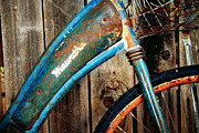 Bicycle Basket Prints - Rusted and Weathered Print by Toni Hopper