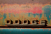 Brand Prints - Rusted antique Dodge car brand ornament Print by ELITE IMAGE photography By Chad McDermott
