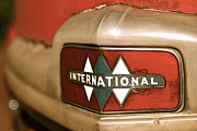 Brand Prints - Rusted antique International car brand ornament Print by ELITE IMAGE photography By Chad McDermott