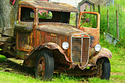 Rusted Cars Framed Prints - Rusted Artwork Framed Print by Randy Harris