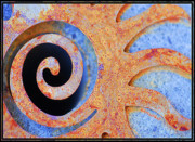 Curves Digital Art Originals - Rusted by Barbara MacPhail