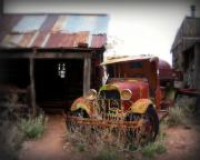 Ghost Town Prints - Rusted classic Print by Perry Webster