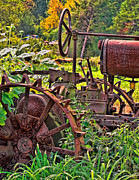 Tractor Photo Posters - Rusted Poster by Colleen Kammerer