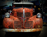 Paint Photograph Prints - Rusted Dodge Print by Perry Webster