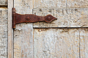 Taos Prints - Rusted Door Hinge Print by Bryan Mullennix