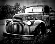 Truck Prints - Rusted Flatbed Print by Perry Webster