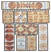 Fabric Quilts Tapestries - Textiles Posters - Rusted Metals Poster by Patty Caldwell