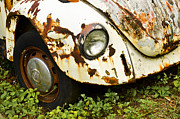 Vw Bug Prints - Rusted Volkswagen Print by Carolyn Marshall