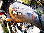 Todd Sherlock Photos - Rusted Yamaha by Todd Sherlock