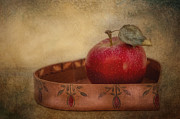 Folk Art Photos - Rustic Apple by Robin-lee Vieira