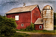 Red Barns Framed Prints - Rustic Barn Framed Print by Bill  Wakeley