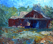Rustic Barn Print by Claire Bull
