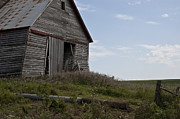 Old Fence Posts Art - Rustic Barn Still Standing by Wilma  Birdwell