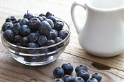 Antioxidant Prints - Rustic blueberries Print by Jarrod Erbe