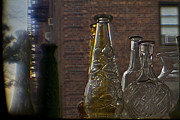 Antiquated Prints - Rustic bottles Print by Alex AG