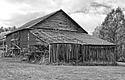 Repairs Metal Prints - Rustic Charm monochrome Metal Print by Steve Harrington