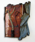 Found Metal Sculpture Prints - Rustic Elegance Print by Snake Jagger