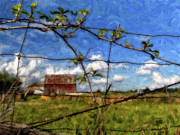 Barn Digital Art - Rustic Frame impasto by Steve Harrington