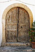 Traditional Doors Prints - Rustic gates Print by Paul Cowan