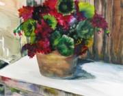 Rustic Geraniums Print by Arry Murphey